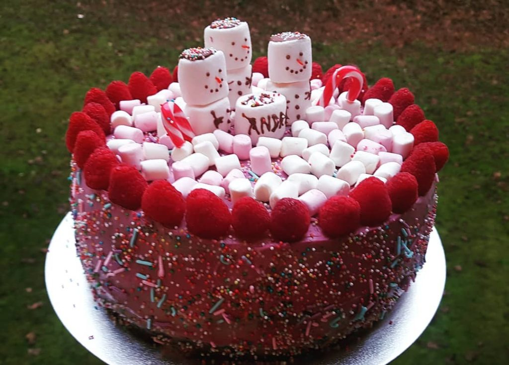 Incredible Berries And Chocolate Birthday Cake Happy Birthday Andrei Personalised Birthday Cards Veneteletsinfo